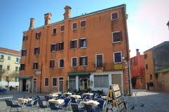 Υπαίθριο εστιατόριο Βενετία, Ιταλία Στοκ εικόνα με δικαίωμα ελεύθερης χρήσης
