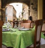 Υπαίθριο εστιατόριο στην Αβάνα Κούβα Στοκ φωτογραφία με δικαίωμα ελεύθερης χρήσης