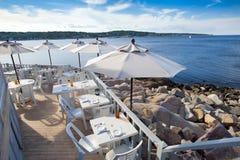 υπαίθριο εστιατόριο Στοκ Φωτογραφία