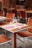 υπαίθριο εστιατόριο Στοκ εικόνα με δικαίωμα ελεύθερης χρήσης