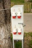 Υπαίθριο ηλεκτρικό κιβώτιο ελέγχου Στοκ Εικόνες