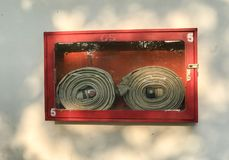 Υπαίθριο κόκκινο γραφείο μανικών πυρκαγιάς στοκ εικόνες
