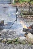 Υπαίθριο μαγείρεμα πρωτοπόρων Στοκ εικόνα με δικαίωμα ελεύθερης χρήσης