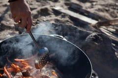 Υπαίθριο μαγείρεμα Στοκ Φωτογραφία