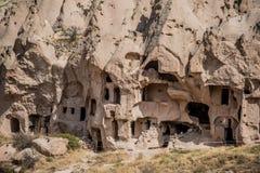 Υπαίθριο μουσείο Zelve, Cappadocia, Τουρκία στοκ φωτογραφία