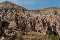 Υπαίθριο μουσείο Zelve, Cappadocia, Τουρκία στοκ φωτογραφίες