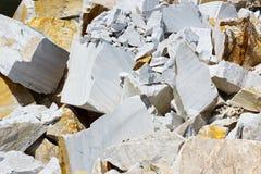 Υπαίθριο ορυχείο στη μαρμάρινη εξαγωγή Στοκ Εικόνα