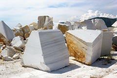 Υπαίθριο ορυχείο στη μαρμάρινη εξαγωγή Στοκ Εικόνες