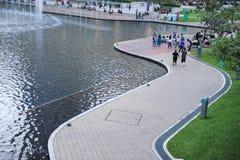 Υπαίθριο πάρκο δίδυμων πύργων της Κουάλα Λουμπούρ Στοκ φωτογραφία με δικαίωμα ελεύθερης χρήσης