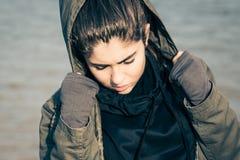 Υπαίθριο πορτρέτο ενός έφηβη Στοκ Φωτογραφία