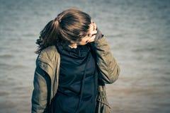 Υπαίθριο πορτρέτο ενός έφηβη Στοκ Εικόνες
