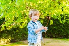 Υπαίθριο πορτρέτο ενός χαριτωμένου μικρού παιδιού Στοκ εικόνες με δικαίωμα ελεύθερης χρήσης