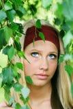 υπαίθριο πορτρέτο ομορφ&iota Στοκ φωτογραφία με δικαίωμα ελεύθερης χρήσης