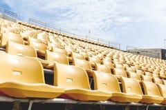 Υπαίθριο στάδιο καρεκλών υπόλοιπου κόσμου κίτρινο Στοκ εικόνα με δικαίωμα ελεύθερης χρήσης