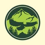 Υπαίθριο σχέδιο λογότυπων περιπέτειας Στοκ Εικόνες