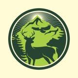 Υπαίθριο σχέδιο λογότυπων περιπέτειας Στοκ Φωτογραφίες
