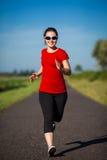 υπαίθριο τρέξιμο κοριτσιώ Στοκ Εικόνες
