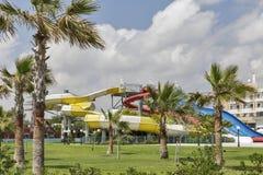 Υπαίθριο aquapark στη Κύπρο Στοκ Εικόνες