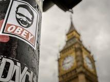 Υπακούστε και τουριστικό αξιοθέατο Big Ben στοκ φωτογραφία με δικαίωμα ελεύθερης χρήσης