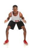 Υπεράσπιση παίχτης μπάσκετ στοκ φωτογραφίες
