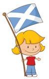 Υπερήφανος για να είναι σκωτσέζικο κορίτσι απεικόνιση αποθεμάτων