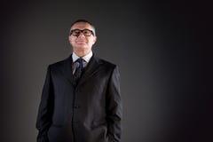 Υπερήφανος ηληκιωμένος με τα γυαλιά Στοκ Εικόνες