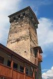 Υπερήφανος πύργος Svaneti στοκ φωτογραφία