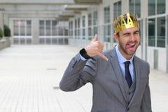 Υπερήφανος υπάλληλος του έτους με το διάστημα αντιγράφων στοκ εικόνα με δικαίωμα ελεύθερης χρήσης