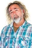 Υπερήφανο άτομο στο πουκάμισο φανέλας Στοκ εικόνες με δικαίωμα ελεύθερης χρήσης
