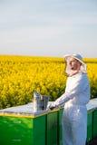 Υπερήφανο apiarist Στοκ Εικόνα