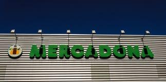 Υπεραγορά Μαδρίτη Ισπανία Mercadona στοκ φωτογραφία