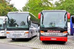 Υπεραστικά λεωφορεία Setra Στοκ εικόνες με δικαίωμα ελεύθερης χρήσης
