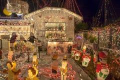Υπερβολικά φω'τα Χριστουγέννων Στοκ φωτογραφία με δικαίωμα ελεύθερης χρήσης