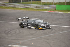 Υπερβολική GT3 2016 δοκιμή Audi R8 LMS σε Monza Στοκ Εικόνες