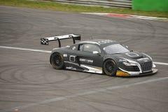 Υπερβολική GT3 2016 δοκιμή Audi R8 LMS σε Monza Στοκ εικόνες με δικαίωμα ελεύθερης χρήσης