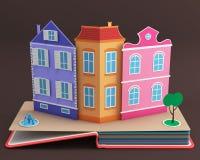 Υπερεμφανιζόμενο βιβλίο με την εκλεκτής ποιότητας οδό Στοκ φωτογραφία με δικαίωμα ελεύθερης χρήσης