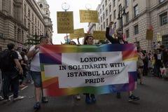 Υπερηφάνεια Λονδίνο 2016 LGBT Στοκ εικόνες με δικαίωμα ελεύθερης χρήσης