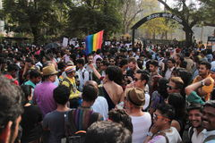 Υπερηφάνεια Μάρτιος σε Mumbai Στοκ Φωτογραφίες