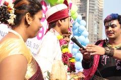 Υπερηφάνεια Μάρτιος στην Ινδία Στοκ Εικόνα