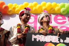 Υπερηφάνεια Μάρτιος στην Ινδία Στοκ Φωτογραφία