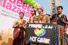 Υπερηφάνεια Μάρτιος στην Ινδία Στοκ Φωτογραφίες