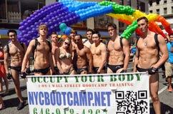υπερηφάνεια παρελάσεων nyc του 2012 ομοφυλοφιλική στοκ φωτογραφία