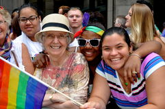 υπερηφάνεια παρελάσεων nyc του 2012 ομοφυλοφιλική Στοκ φωτογραφία με δικαίωμα ελεύθερης χρήσης