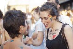 υπερηφάνεια 2012 συμμετεχόντων της Μπολόνιας ομοφυλοφιλική Στοκ εικόνες με δικαίωμα ελεύθερης χρήσης