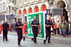 υπερηφάνεια UK παρελάσεων  Στοκ φωτογραφία με δικαίωμα ελεύθερης χρήσης