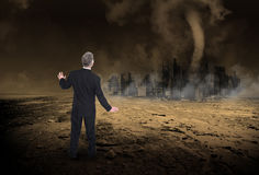 Υπερθέρμανση του πλανήτη, κλιματική αλλαγή, αποκάλυψη Στοκ φωτογραφίες με δικαίωμα ελεύθερης χρήσης
