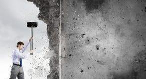 Υπερνίκηση των προκλήσεων Στοκ Φωτογραφίες