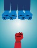 Υπερνικώντας την αντιπαλότητα και κατακτώντας τις προκλήσεις ως ομάδα Στοκ εικόνες με δικαίωμα ελεύθερης χρήσης