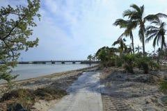 Υπερπόντιο ίχνος κληρονομιάς των Florida Keys μετά από τον τυφώνα Irma Στοκ Εικόνες