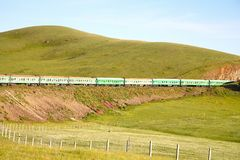 Υπερσιβηρικός σιδηρόδρομος από το Πεκίνο Κίνα στην ulaanbaatar Μογγολία Στοκ εικόνα με δικαίωμα ελεύθερης χρήσης